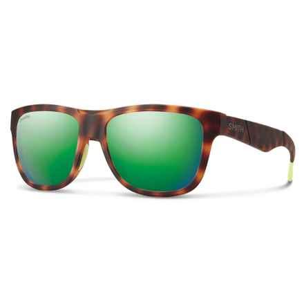 Smith Optics Lowdown Slim Sunglasses - ChromaPop® Lenses in Matte Tortoise/Green - Overstock