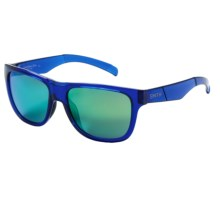 Smith Optics Lowdown Slim Sunglasses in Crystal Blue/Green Sol-X - Closeouts