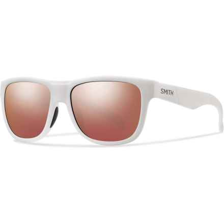 Smith Optics Lowdown Slim Sunglasses in Matte White/Red Sol-X - Closeouts