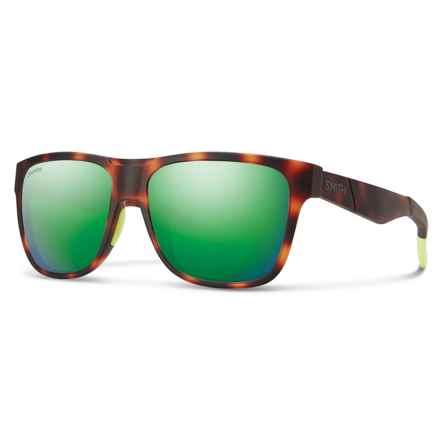 Smith Optics Lowdown Sunglasses - ChromaPop® Lenses in Matte Tortoise/Green - Overstock