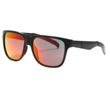 Smith Optics Lowdown Sunglasses in Black/Red Sol-X - Closeouts