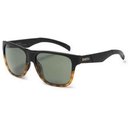 Smith Optics Lowdown Sunglasses in Matte Black/Fade Tortoise/Gray Green - Closeouts