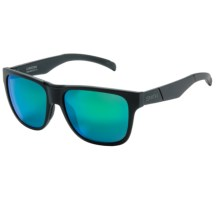 Smith Optics Lowdown Sunglasses in Matte Black/Green Sol-X - Closeouts