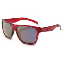 Smith Optics Lowdown XL Sunglasses - Carbonic Lenses in Crystal Red/Purple Sol-X - Closeouts