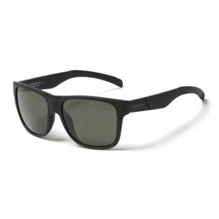 Smith Optics Lowdown XL Sunglasses - ChromaPop® Lenses (For Men) in Matte Black/Gray Green - Closeouts