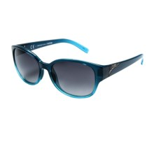 Smith Optics Lyric Sunglasses in Navy Aqua Fade/Gray Gradient - Closeouts