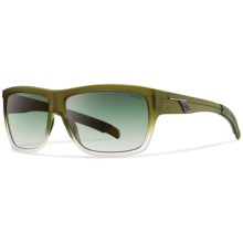 Smith Optics Mastermind Sunglasses - Polarized in Vintage Green/Polarized Green Gradient - Closeouts