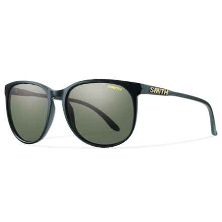 Smith Optics Mt. Shasta Sunglasses - Polarized (For Women) in Matte Black/Gray/Green - Overstock