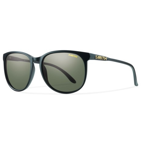 Smith Optics Mt. Shasta Sunglasses - Polarized (For Women) in Matte Black/Gray/Green