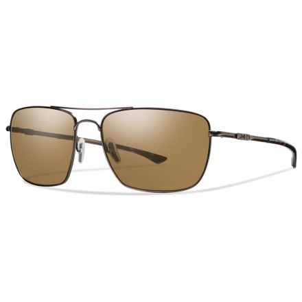 Smith Optics Nomad Sunglasses - Polarized ChromaPop® Lenses in Matte Brown/Brown - Overstock