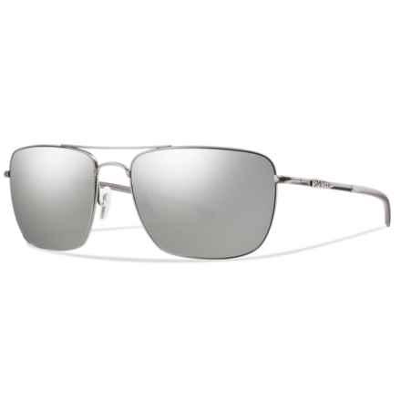Smith Optics Nomad Sunglasses - Polarized ChromaPop® Lenses in Matte Silver/Platnium - Overstock