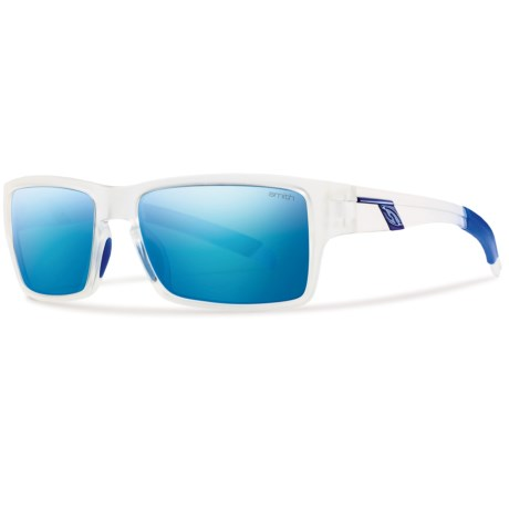 Smith Optics Outlier Sunglasses - Polarized in Matte Clear/Polarized Blue Mirror