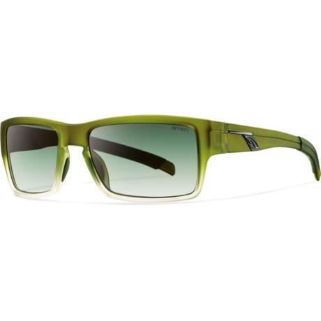 Smith Optics Outlier Sunglasses - Polarized in Vintage Green/Polarized Green Gradientt