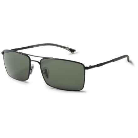 Smith Optics Outlier Titanium Sunglasses - Polarized ChromaPop Lenses in Matte Black/Gray Green - Closeouts