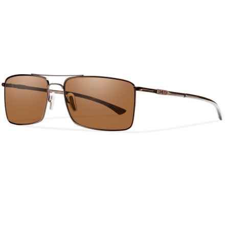 Smith Optics Outlier Titanium Sunglasses - Polarized ChromaPop Lenses in Matte Brown/Brown - Closeouts