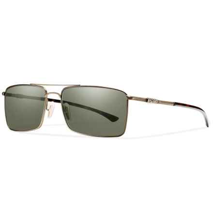 Smith Optics Outlier Titanium Sunglasses - Polarized ChromaPop Lenses in Matte Gold/Gray Green - Closeouts