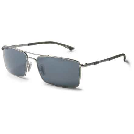 Smith Optics Outlier Titanium Sunglasses - Polarized ChromaPop Lenses in Matte Silver/Platinum - Closeouts