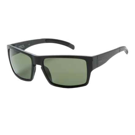 Smith Optics Outlier XL Sunglasses - Polarized ChromaPop Lenses in Matte Black/Gray Green - Closeouts