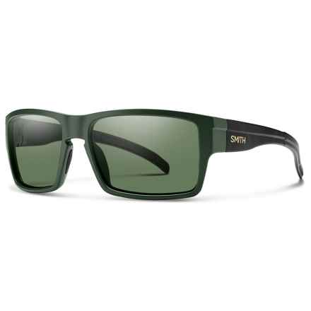 Smith Optics Outlier XL Sunglasses - Polarized ChromaPop Lenses in Matte Olive/ Gray/Green - Closeouts