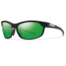 Smith Optics Overdrive Sunglasses - Interchangeable Lenses in Black/Green Sol-X - Closeouts