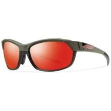 Smith Optics Overdrive Sunglasses - Interchangeable Lenses in Matte Fatigue/Red Sol-X - Closeouts