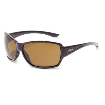 Smith Optics Pace Sunglasses - Polarized ChromaPop® Lenses (For Women) in Black Cherry/Brown - Overstock