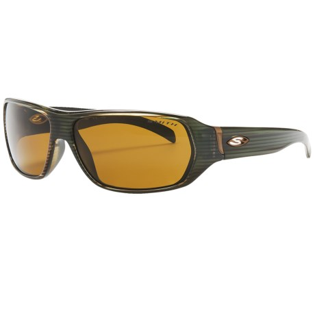 Smith Optics Pavilion Sunglasses - Polarized in Chemical Stripe/Polarized Brown