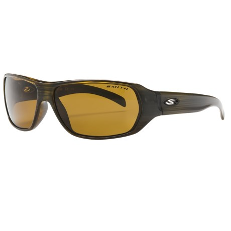 Smith Optics Pavilion Sunglasses - Polarized in Olive Stripe/Polarized Brown