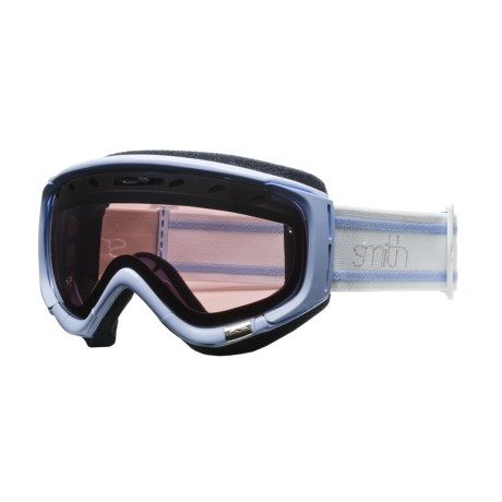 Smith Optics Phase Snowsport Goggles - Spherical Mirror Lens (For Women) in Petal Blue Bristol/Ignitor Mirror
