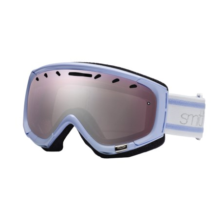 Smith Optics Phase Snowsport Goggles - Spherical Mirror Lens (For Women) in Petal Blue Bristol/Sensor Mirror