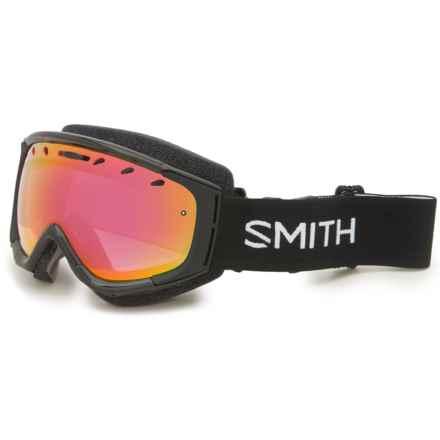 Smith Optics Phenom Snow Goggles in Black/Red Sensor Mirror - Closeouts