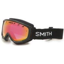 Smith Optics Phenom Snow Goggles in Black/Red Sol-X - Closeouts