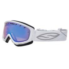 Smith Optics Phenom Snow Goggles in White/Blue Sensor Mirror - Closeouts
