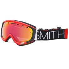 Smith Optics Phenom Snowsport Goggle in Fire Blockhead/Red Sensor - Closeouts