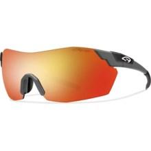Smith Optics Pivlock V2 Max Sunglasses - Interchangeable in Matte Cement/Red Sol-X Mirror - Closeouts