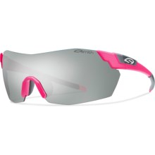 Smith Optics Pivlock V2 Max Sunglasses - Interchangeable in Matte Shocking Pink/Super Platinum - Closeouts