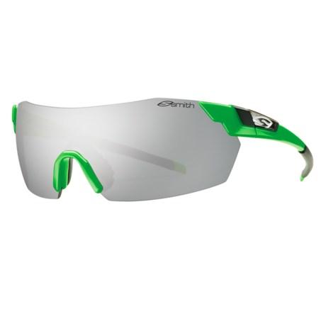 Smith Optics PivLock V2 Sunglasses - Interchangeable, Extra Lenses in Neon Green/Platinum