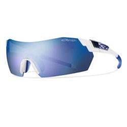 Smith Optics PivLock V2 Sunglasses - Photochromic, Interchangeable in Matte Clear/Blue Mirror