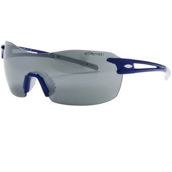 Smith Optics PivLock V90 Max Sunglasses - Interchangeable, Extra Lenses in Blue/Platinum Mirror