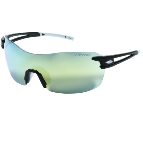 Smith Optics PivLock V90 Max Sunglasses - Interchangeable, Extra Lenses in Matte Black/Yellow Mirror