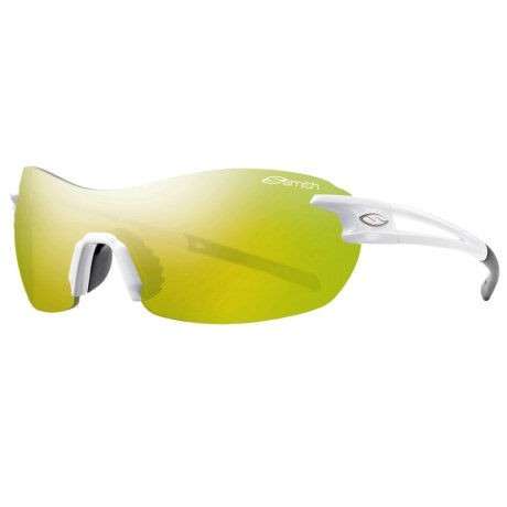 Smith Optics PivLock V90 Max Sunglasses - Interchangeable, Extra Lenses in White/Yellow Mirror