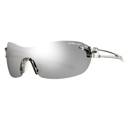 Smith Optics PivLock V90 Sunglasses - Interchangeable, Extra Lenses in Smoke/Platinum Mirror