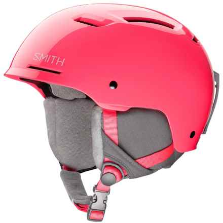 Smith Optics Pivot Jr. Ski Helmet (For Little and Big Kids) in Crazy Pink - Closeouts