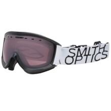 Smith Optics Prophecy Snowsport Goggles in Black/White Data/Ignitor Mirror - Closeouts