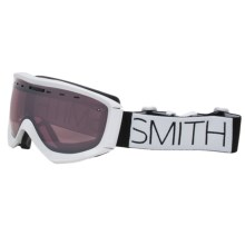 Smith Optics Prophecy Snowsport Goggles in White Block/Ignitor Mirror - Closeouts