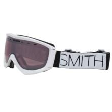 Smith Optics Prophecy Snowsport Goggles in White Block/Ignitor Mirror - Closeouts