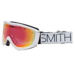 Smith Optics Prophecy Snowsport Goggles in White Block/Red Sensor Mirror