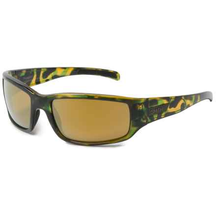 Smith Optics Prospect Sunglasses - Polarized ChromaPop Lenses in Flecked Green Tortoise/Bronze - Overstock