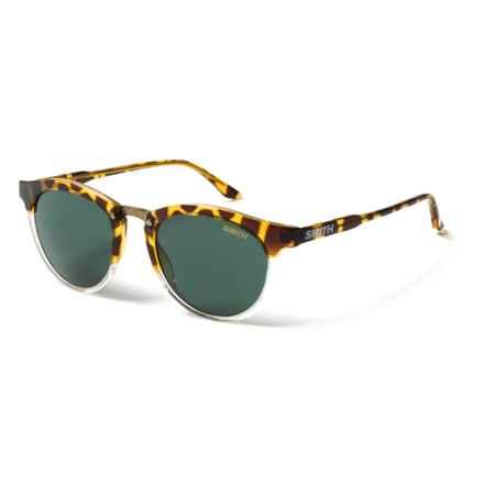 Smith Optics Questa Sunglasses (For Women) in Amber Tortoise/Green - Closeouts