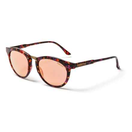 Smith Optics Questa Sunglasses (For Women) in Flecked Mulberry Tortoise/Rose Gold Mirror - Closeouts